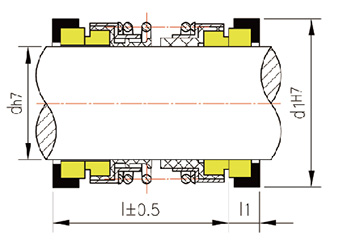散装单旋向双端面机械密封的结构特点