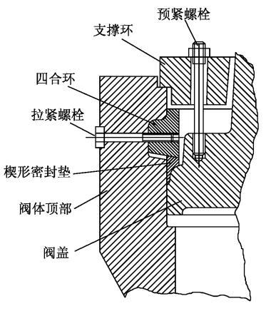楔形垫组合自密封结构图